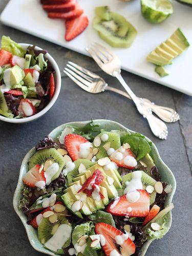 Strawberry Avocado Honey Lime Salad | runningtothekitchen.com by ...