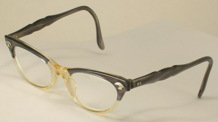 Eyeglass Frames Made In The Usa : Art Craft Vintage Eyeglass Frames Black Gray and While ...