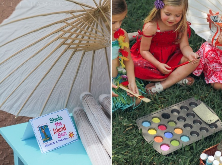 Luau party craft idea
