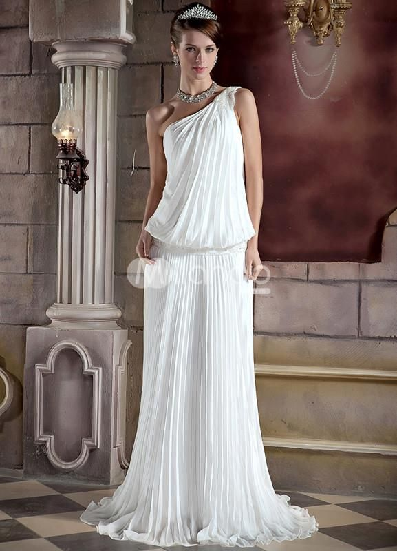 Pin by ourgreatshop on one shoulder prom dresses pinterest for Toga style wedding dress