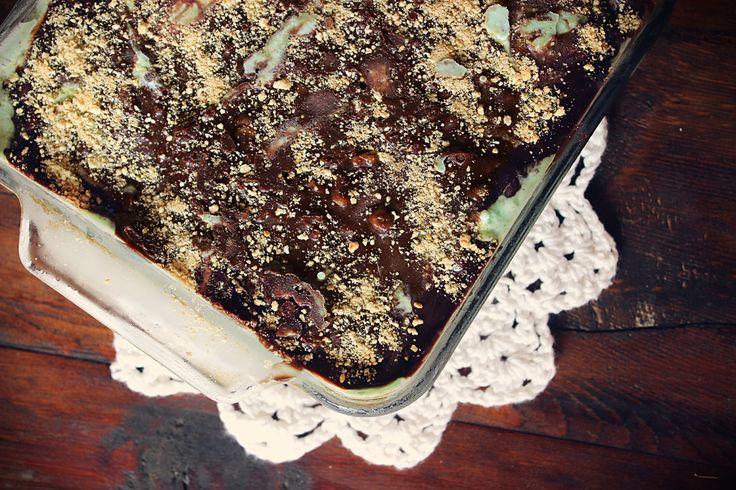 Fudgy Mint Chocolate Chip Ice Cream Cake | Recipe