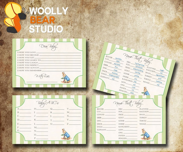 printable peter rabbit baby shower games 3 games