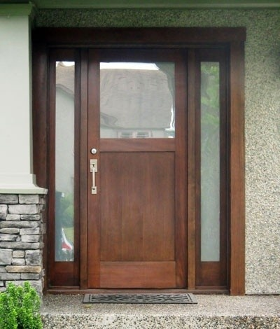 Front door with side lites
