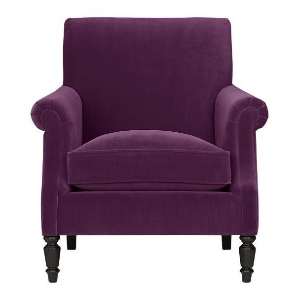 Purple Velvet Armchair Purple Pinterest