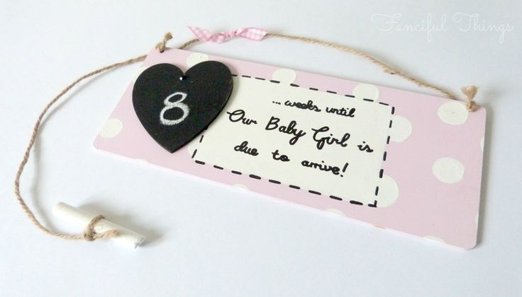 Countdown to due date baby plaque by www fancifulthings co uk