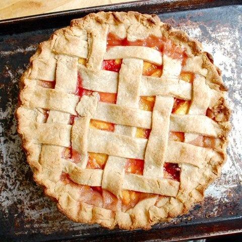 Lattice Top Peach Pie | Food I like | Pinterest