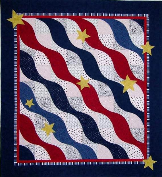 Quilt Patterns For Quilts Of Valor : Quilts of Valor, Wave Quilt Pattern by The Sweet Tea Girls!