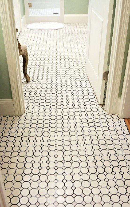Hexagon Tile Dark Grout Tile Pinterest