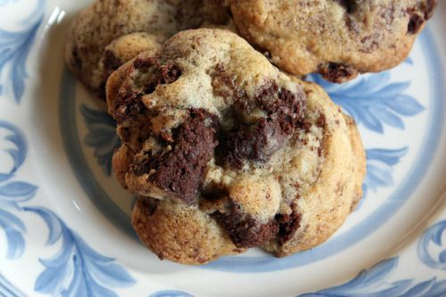 Brownie-Chunk Cookies | Family's sweet tooth :) | Pinterest