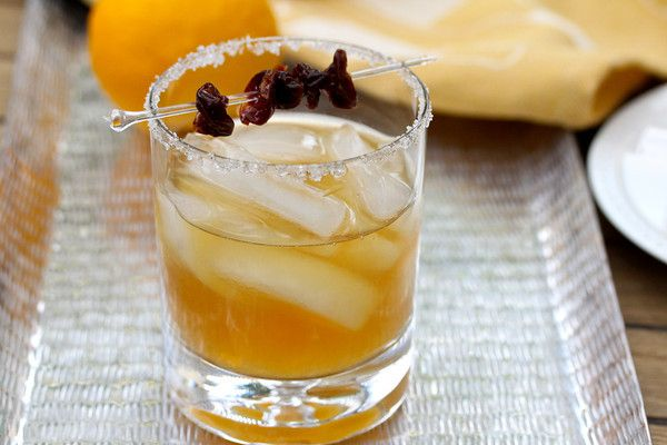 Sidecar Cocktail with Dried Cherries | Beverages | Pinterest