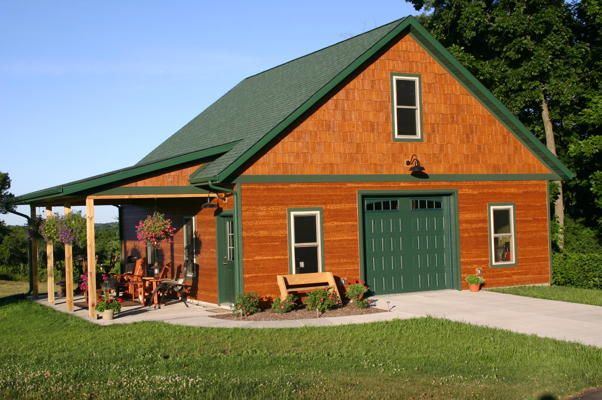 This beautiful detached garage pole barns detached for Garage plans with porch