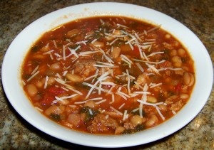 Slow cooker Italian Stew with beans and kale is a hearty stew that ...