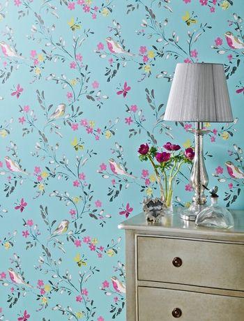 Bright Bird Wallpaper Next Comfort Zone Ideas Pinterest
