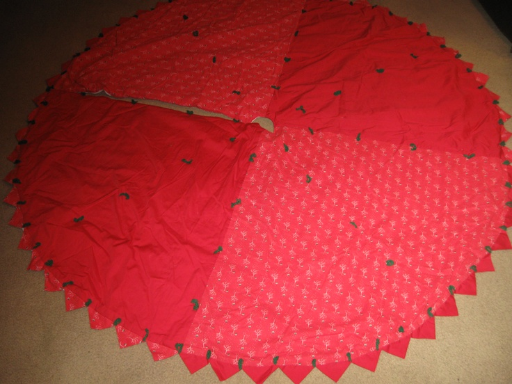 Quilted Christmas Tree Skirt Pinterest : christmas tree skirt quilted crafts Pinterest