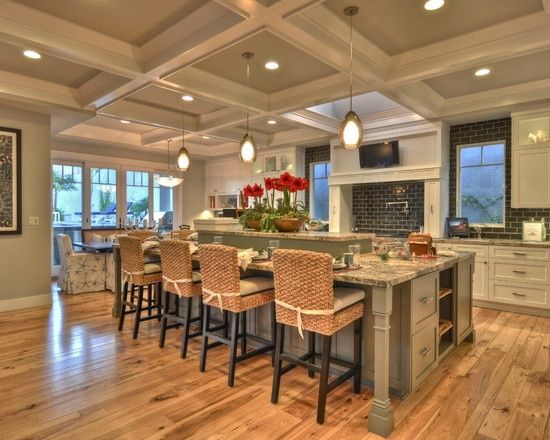 Craftsman style home kitchens pinterest for Show me beautiful kitchens