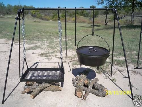 CAST IRON GRILL AND COOK SET