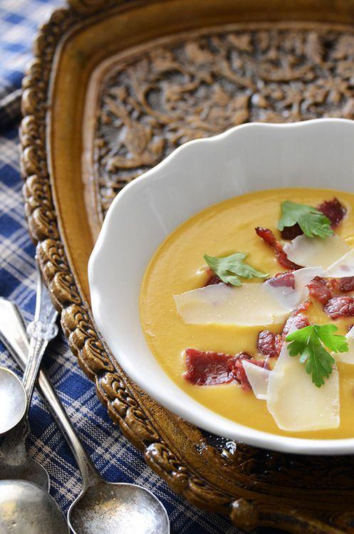 Creamy Sweet Potato Soup. #food   Recipe adventures   Pinterest