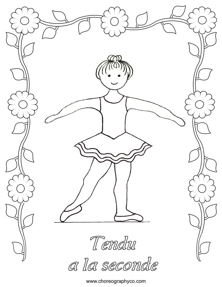 preschool gymnastics coloring pages - photo#7