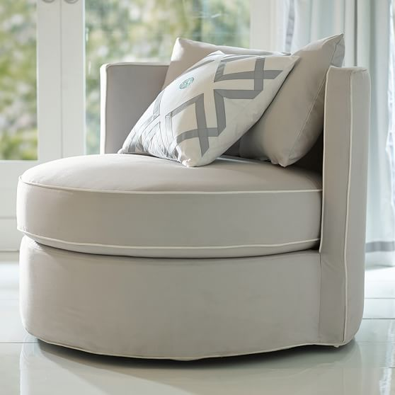 Round-About Slipcover Chair | PBteen