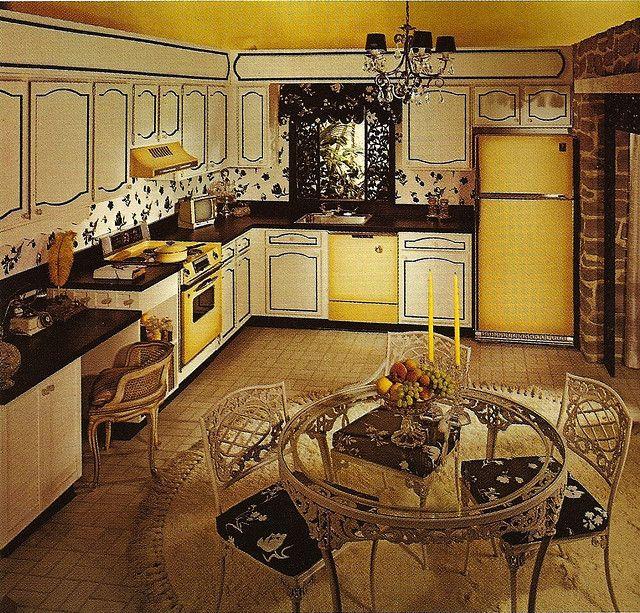 1970s architectural digest kitchen interiors pinterest for Retro kitchen ideas 1970