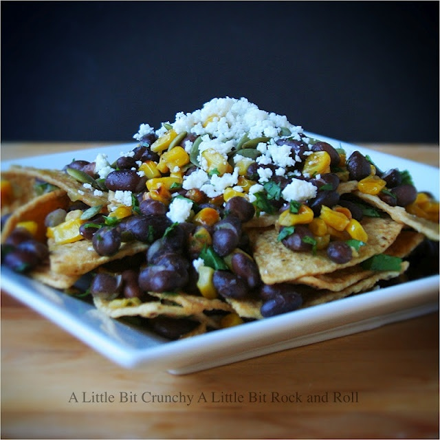 Black Bean and Charred Corn Chilaquiles | for the belly | Pinterest