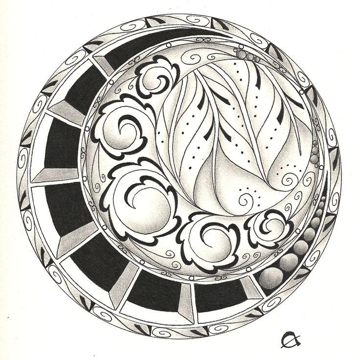My third Zentangle by Greenstar Jewellery
