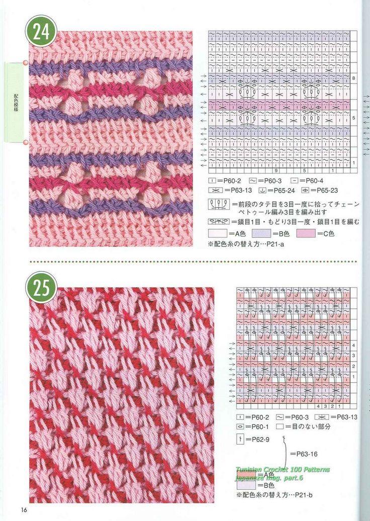 Tunisian Crochet Patterns : Tunisian Crochet Patterns tuni Pinterest