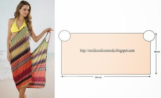 Как сшить пляжного платья своими руками выкройки 35