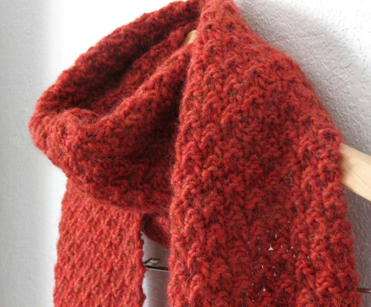 Knit Scarf Pattern Seed Stitch : double seed stitch Needlework projects Pinterest