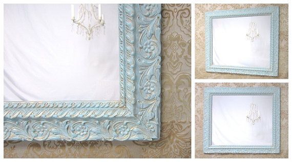 French country mirrors for sale vintage ornate framed for Teal framed mirror