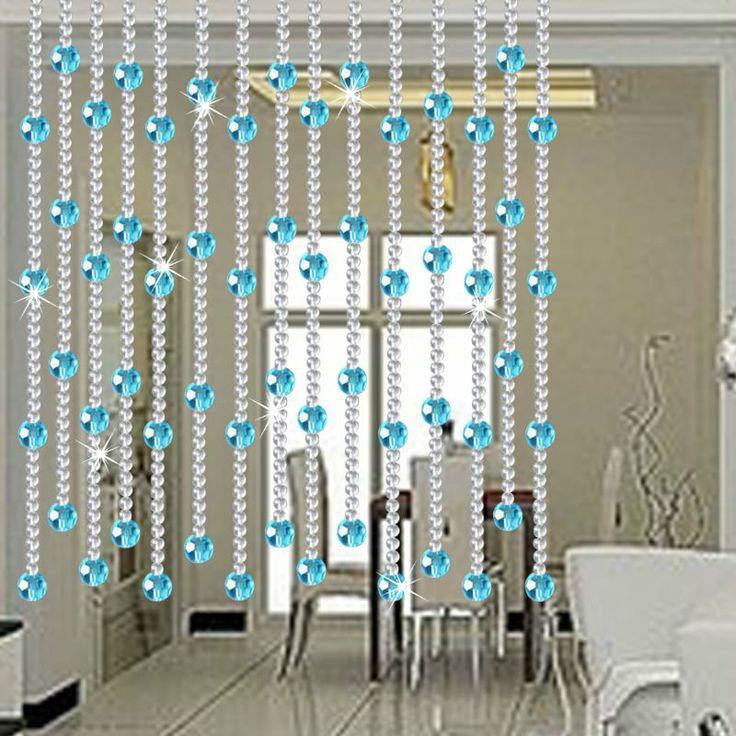 Cortinas cristal cortinas de cuentas pinterest - Cortinas para puertas de cristal ...