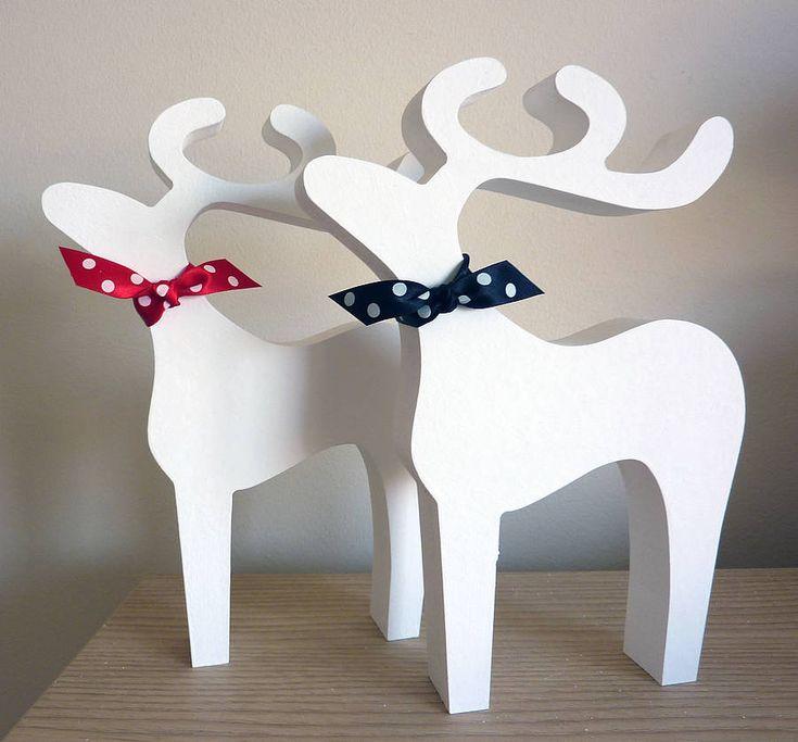Christmas reindeer decoration christmas pinterest for Reindeer decorations