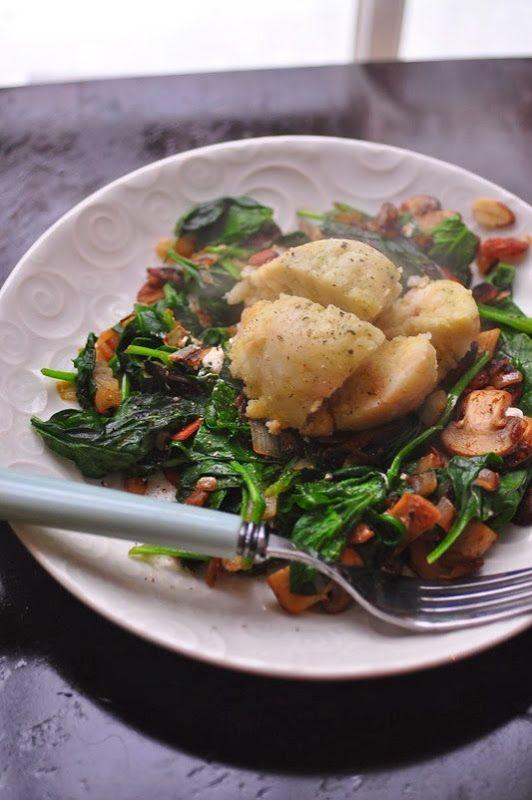 German bread dumpling lunch | Skinny Jeans Food Blog | Pinterest