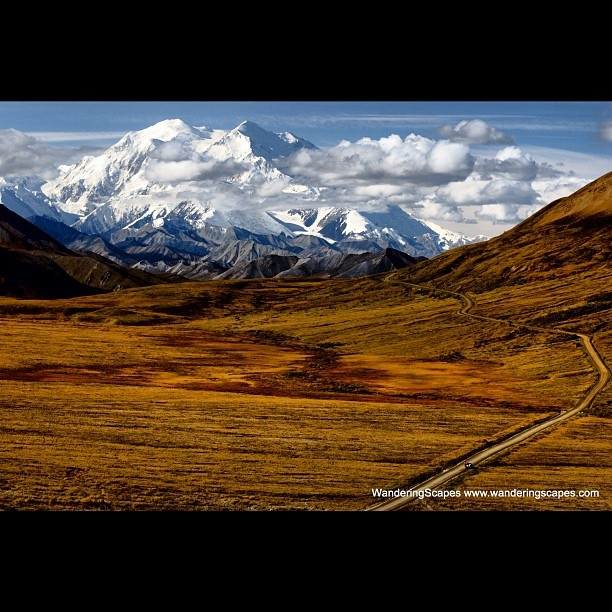 http://wanderingscapes.com/2012/05/a-road-leading-the-eye-to-mount-mckinley-or-denali-in-denali-national-park-alaska-measured-base-to-peak-it-is-the-tallest-mountain-on-land