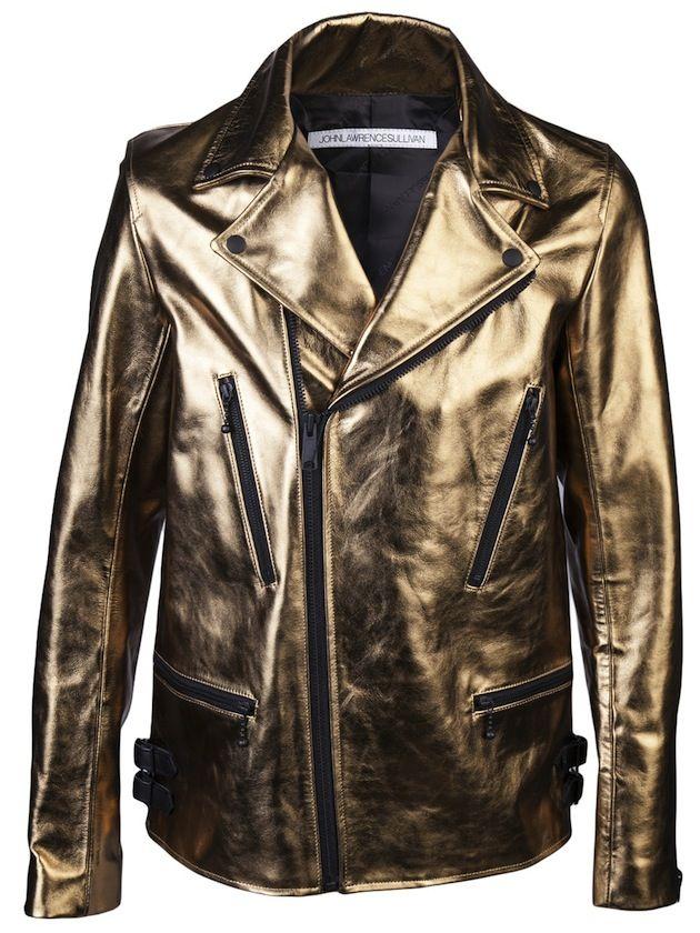 Gold Leather Jacket by John Lawrence Sullivan #gold #Jacket