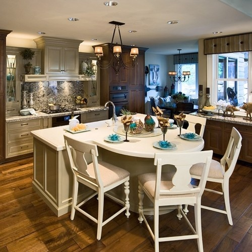 Loving This Island Dining Table Combo Kitchen Ideas Pinterest