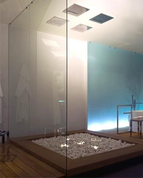 open glass shower bathroom pinterest