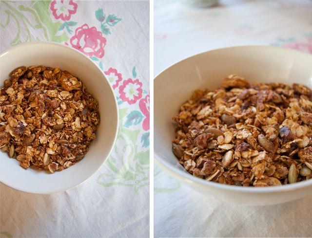 pumpkin pie granola | foods | Pinterest