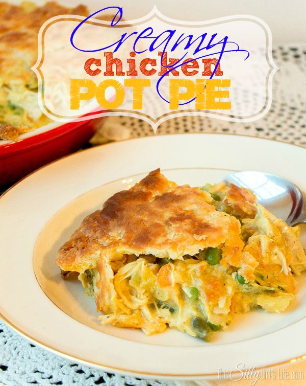 Creamy Chicken Pot Pie, such a classic but elevated to the next level ...