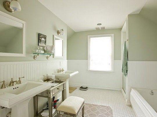 serene beadboard bathroom by keri dream house pinterest