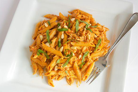 red pepper pesto pasta | Pasta. | Pinterest