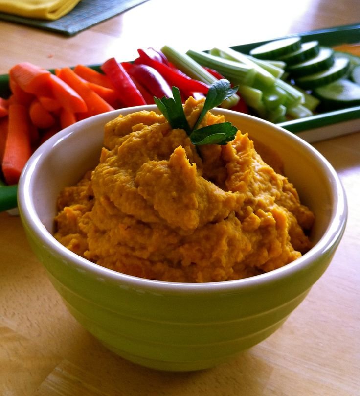 Curried Sweet Potato Hummus | Eating the Low Carb Way | Pinterest