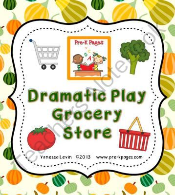 ... com (36 pages) - Dramatic Play Printable Grocery Store Kit for PK & K