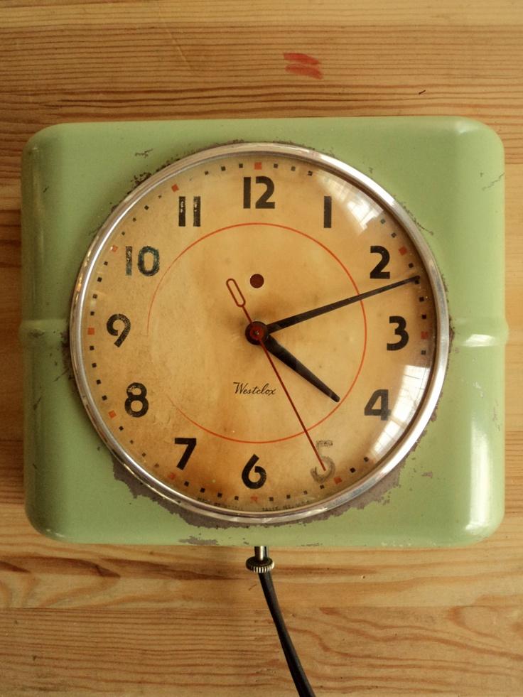 Vintage Retro Kitchen Wall Clock Via Etsy