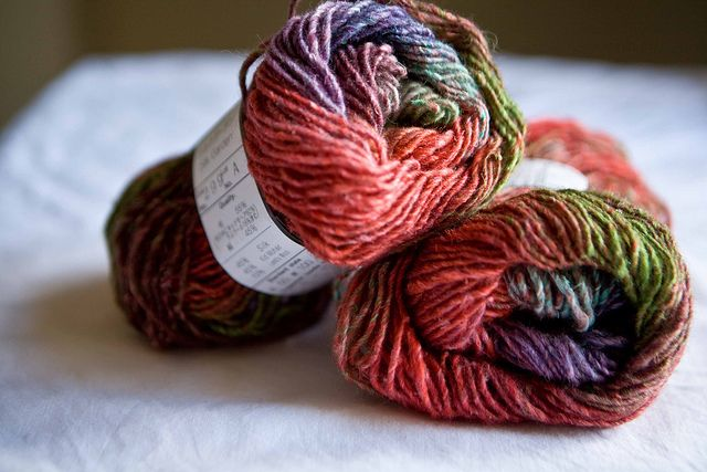 Noro Silk Garden (all the Noro colorways are amazing and full of surprises)