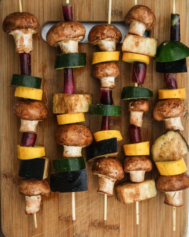 Miso-Glazed Veggie Kebabs | Yum - Entrees & Sides | Pinterest