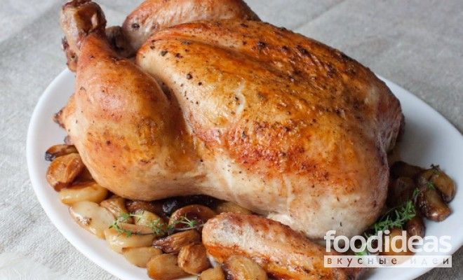 Рецепт фаршированная курица с блинами