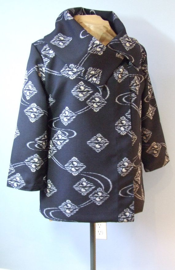 Tsuru Indigo Wool Swing Jacket. Women's Size by BombyxBotanica, $168 ...: pinterest.com/pin/388717011559395022