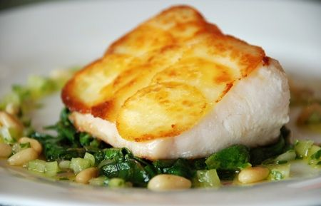 "Black Cod with Potato ""Scales"" 