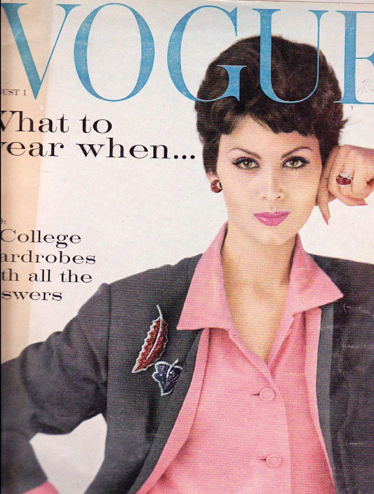 ... Magazine, Oct. 1, 1959   Vogue Magazine Covers - Vintage Fashio Vintage Fashion